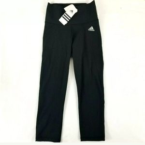 Adidas Womens Black Climalite Tight Fit High S